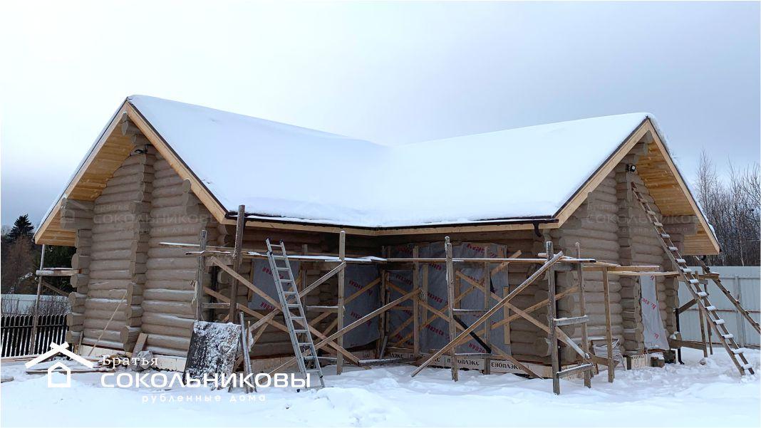 Дом-баня в диком стиле, 126 кв. м, фото 1