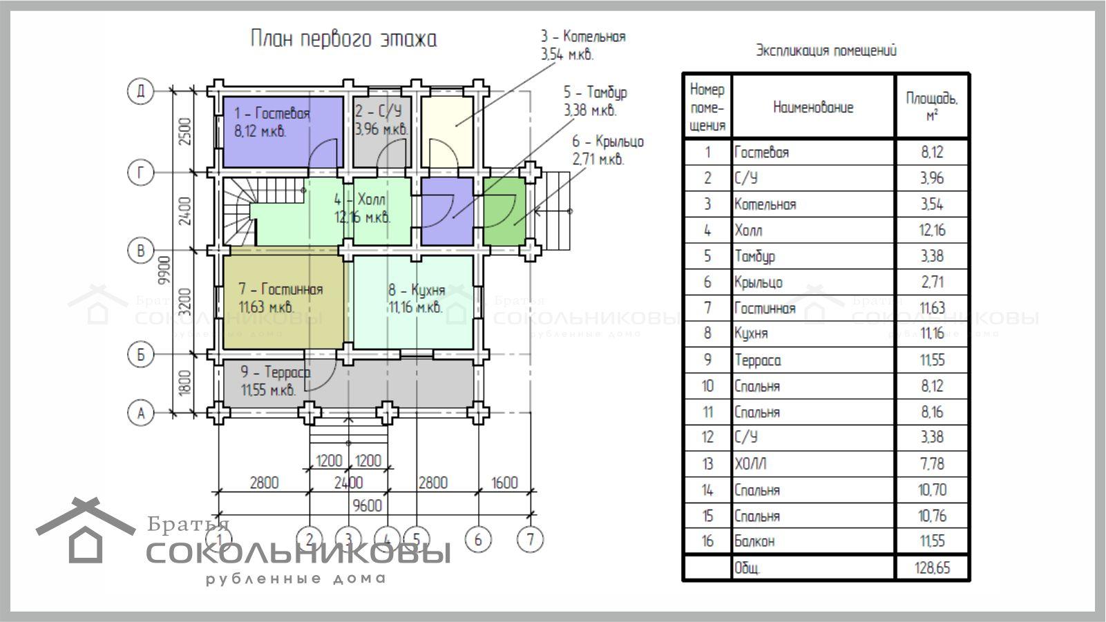 Дом под рубанок, 129 кв. м, фото 1
