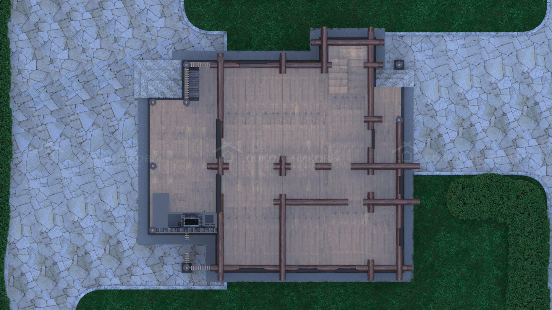 Баня в диком стиле, 150 кв. м, фото 7