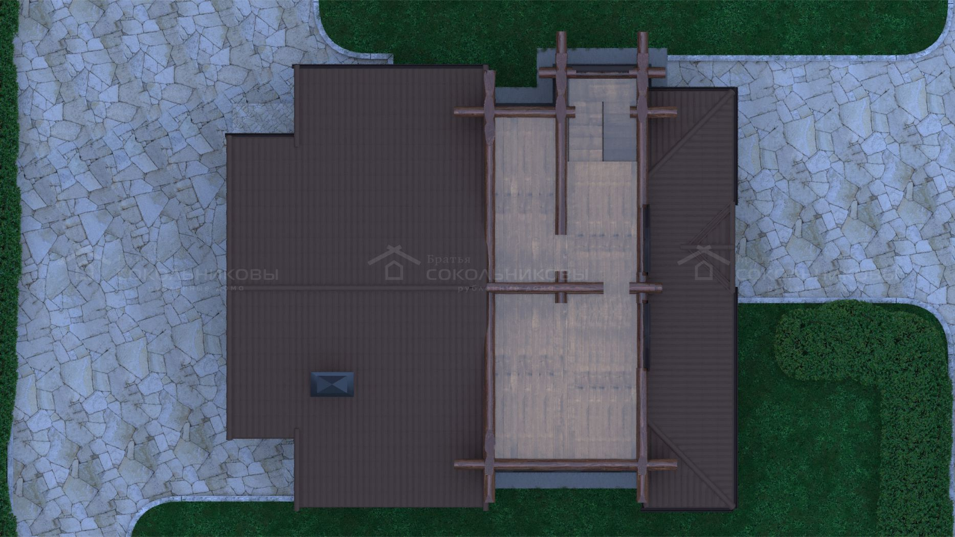 Баня в диком стиле, 150 кв. м, фото 8