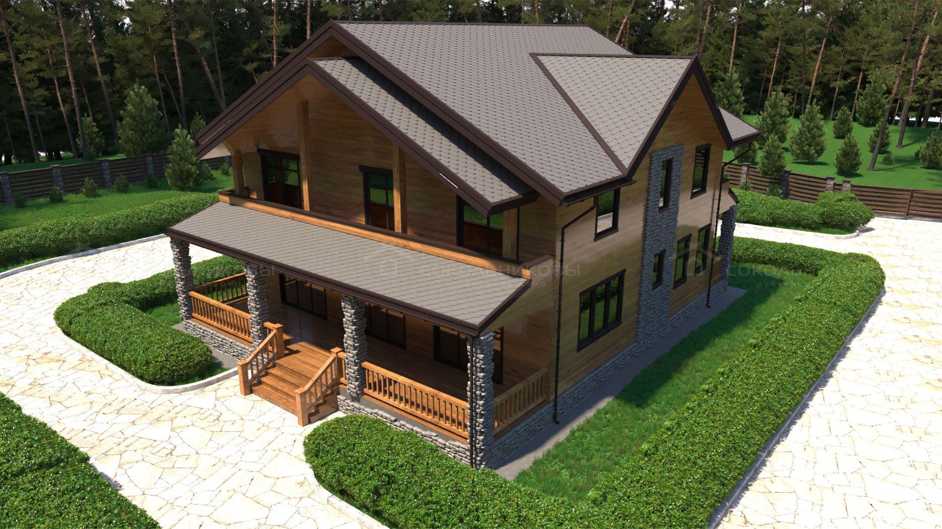 Дом из лафета, 350 кв. м, фото 3