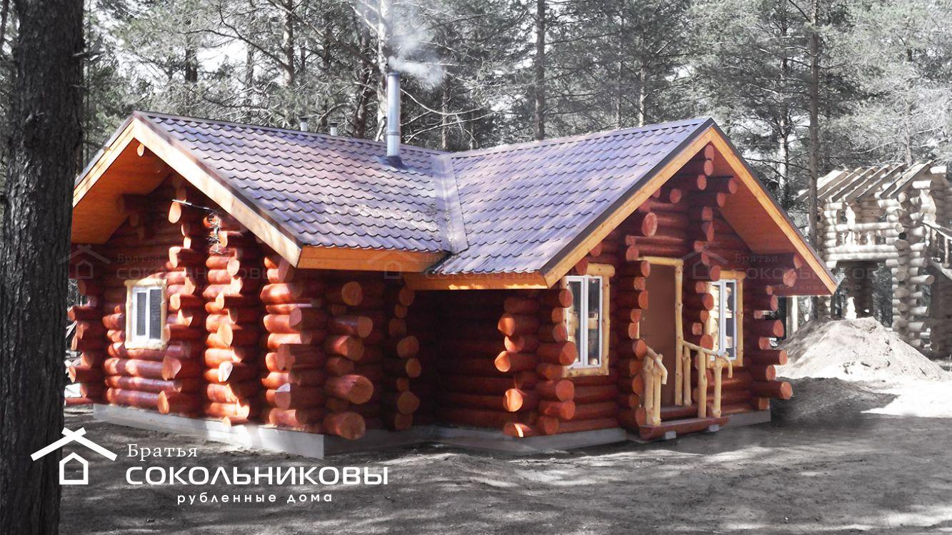 Дом ручной рубки в диком стиле