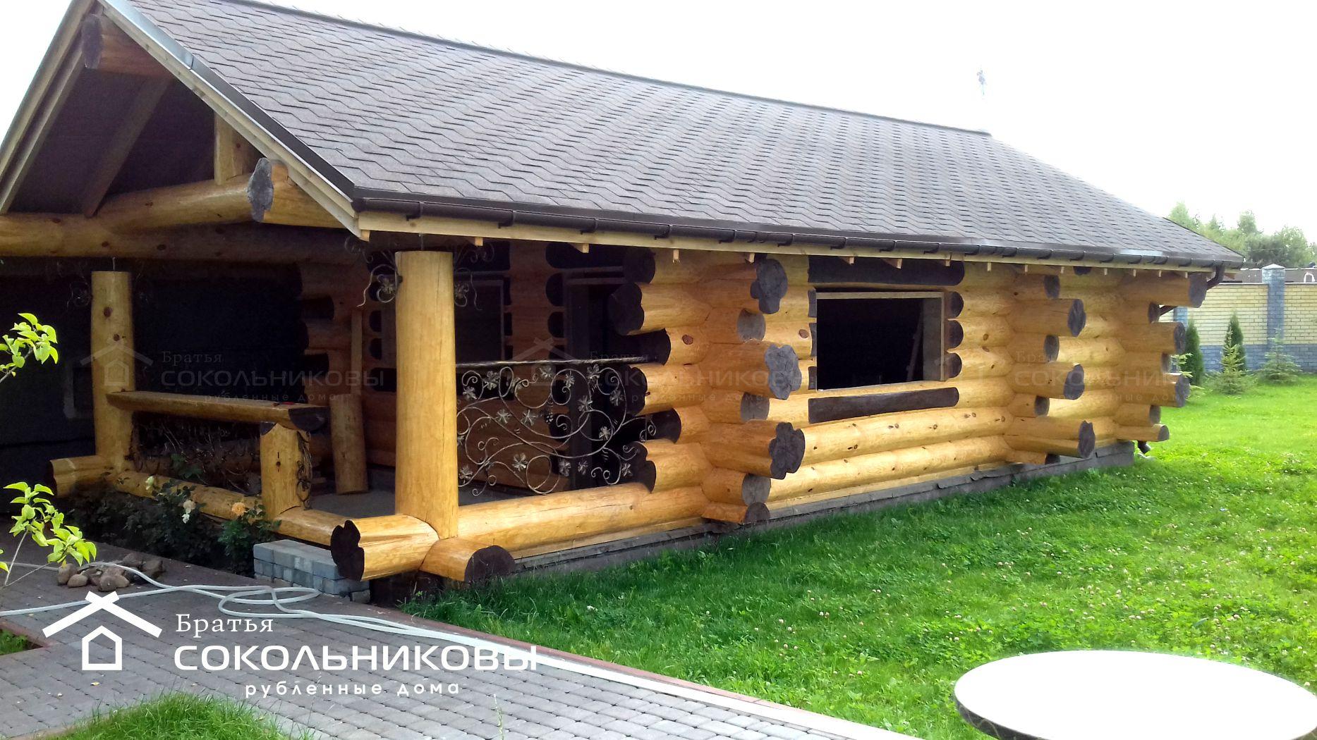 Баня в диком стиле под рубанок, 45 кв. м, фото 1