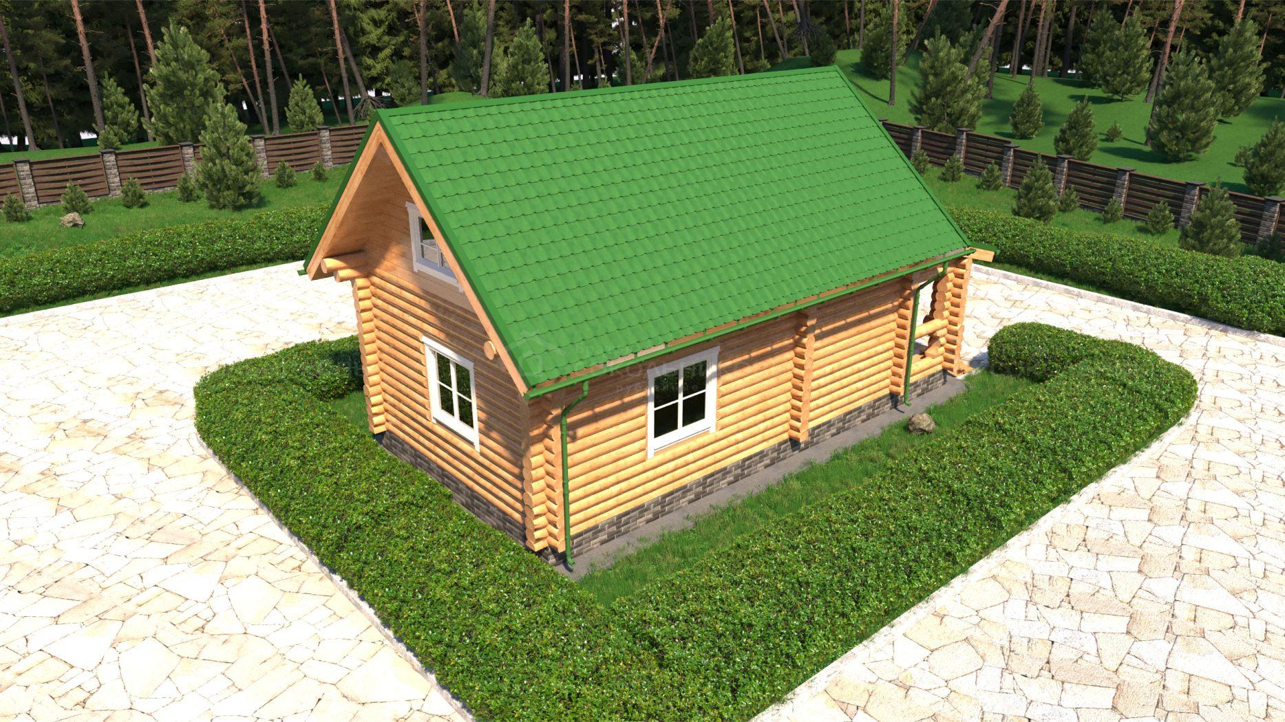 Дом под рубанок, 60 кв. м, фото 6