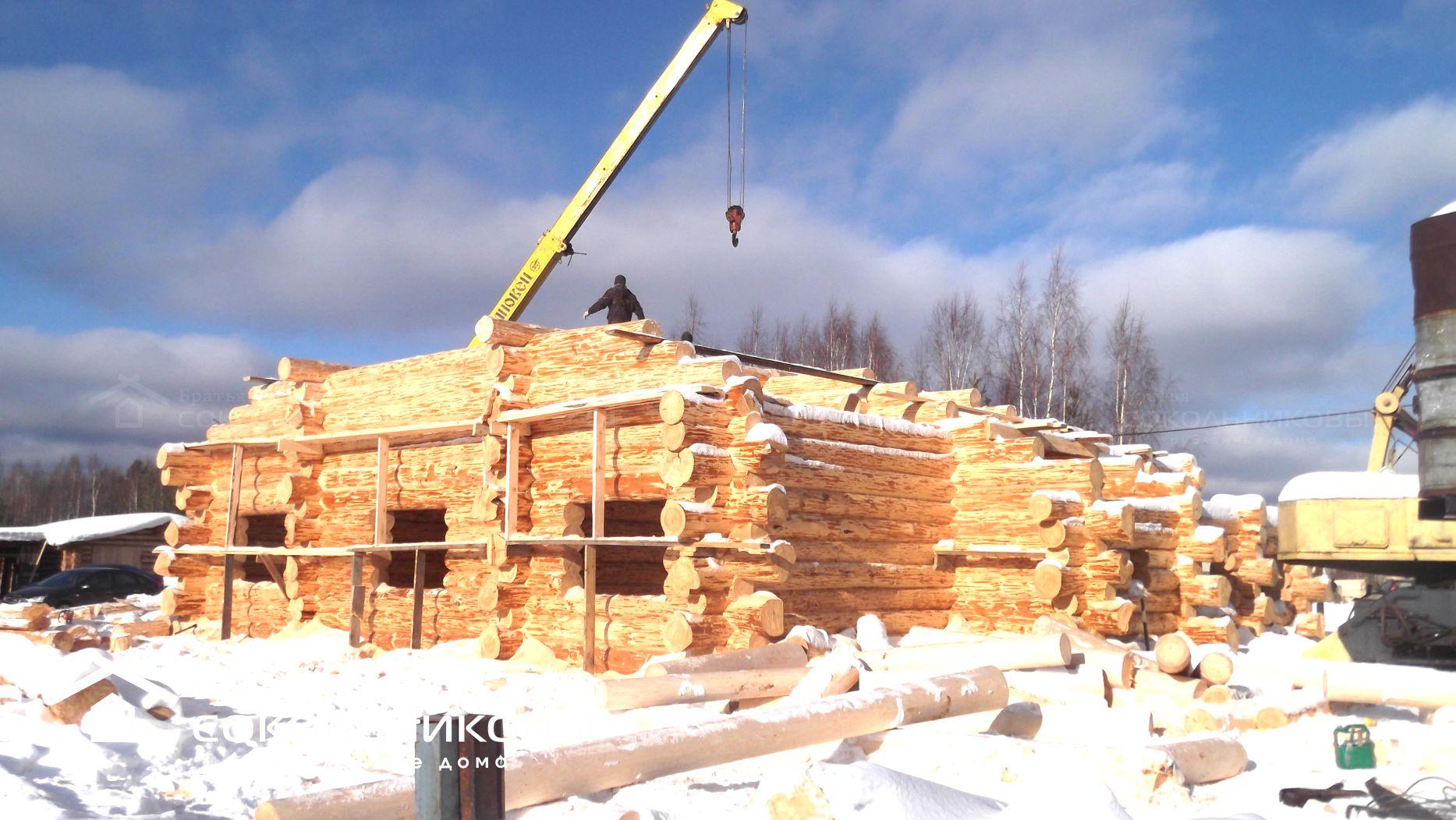 Сруб дома в диком стиле, 180 кв. м, фото 1