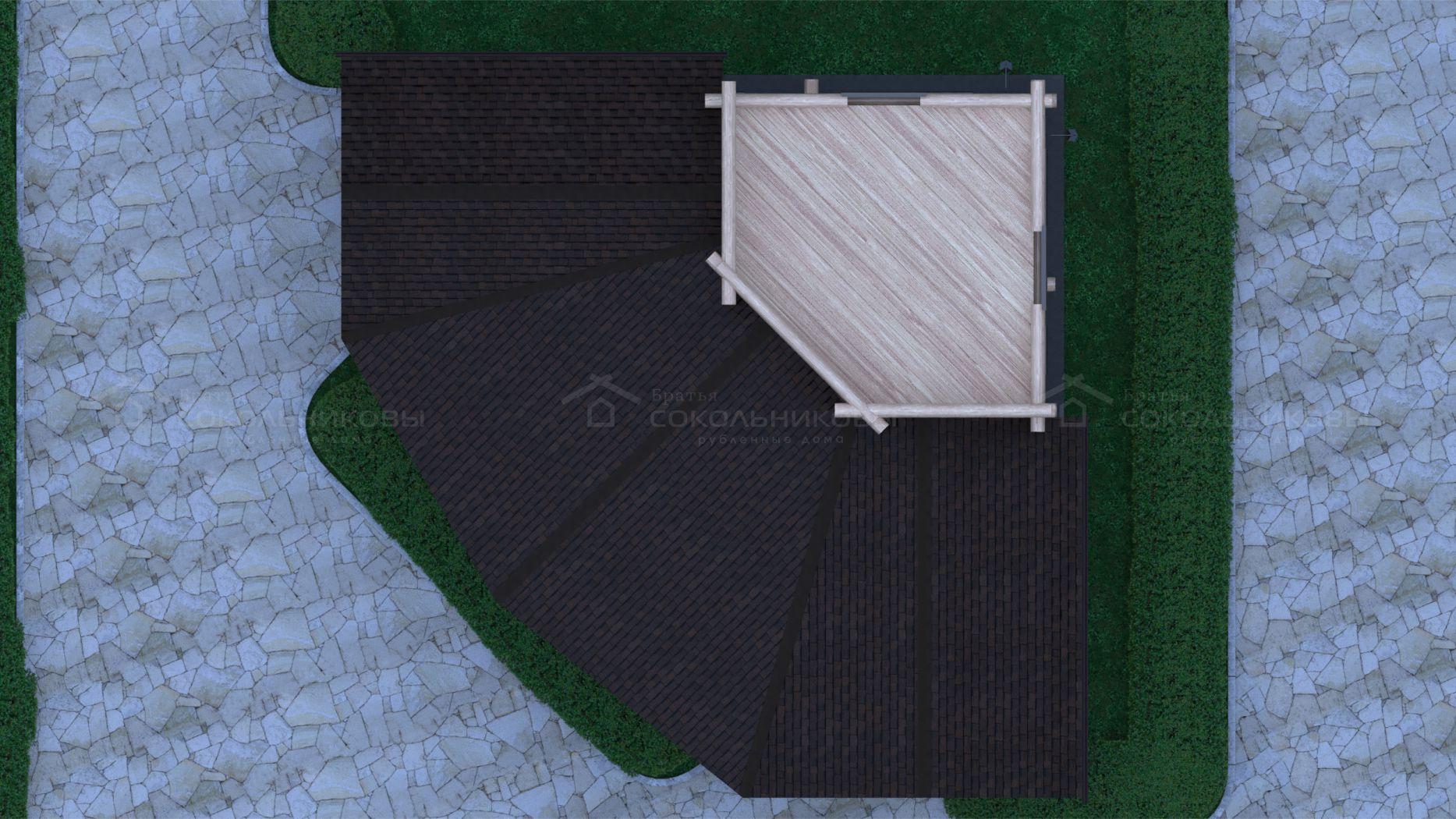Рубленный дом с элементами Post and Beam, 150 кв. м, фото 8