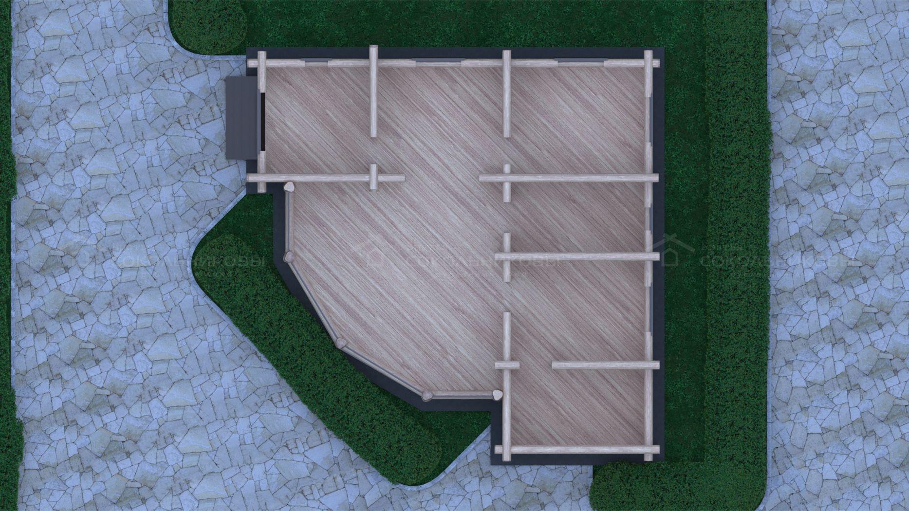 Рубленный дом с элементами Post and Beam, 150 кв. м, фото 7