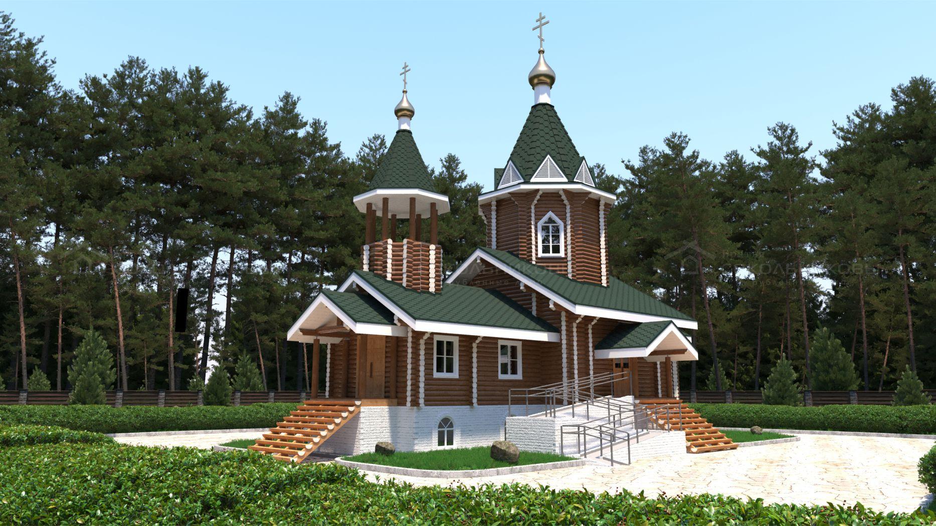 Рубленая церковь, 137 кв. м, фото 1