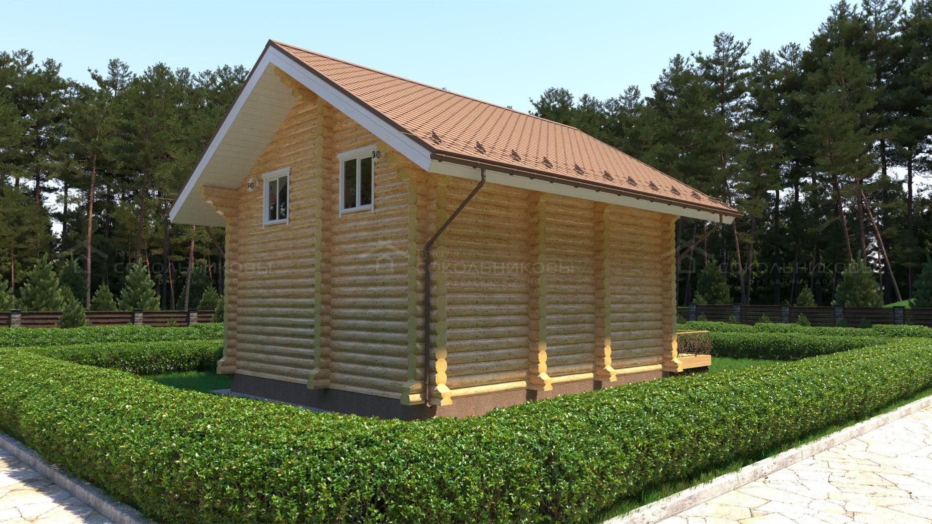 Дом-баня под рубанок, 130 кв. м, фото 4