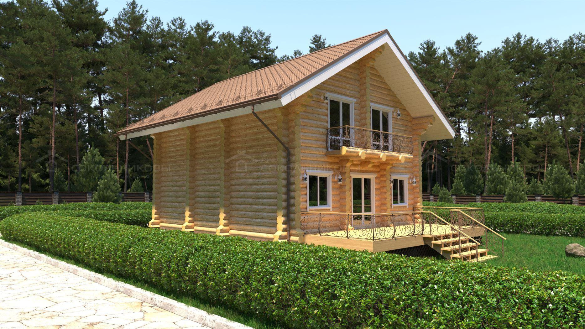 Дом-баня под рубанок, 130 кв. м, фото 2