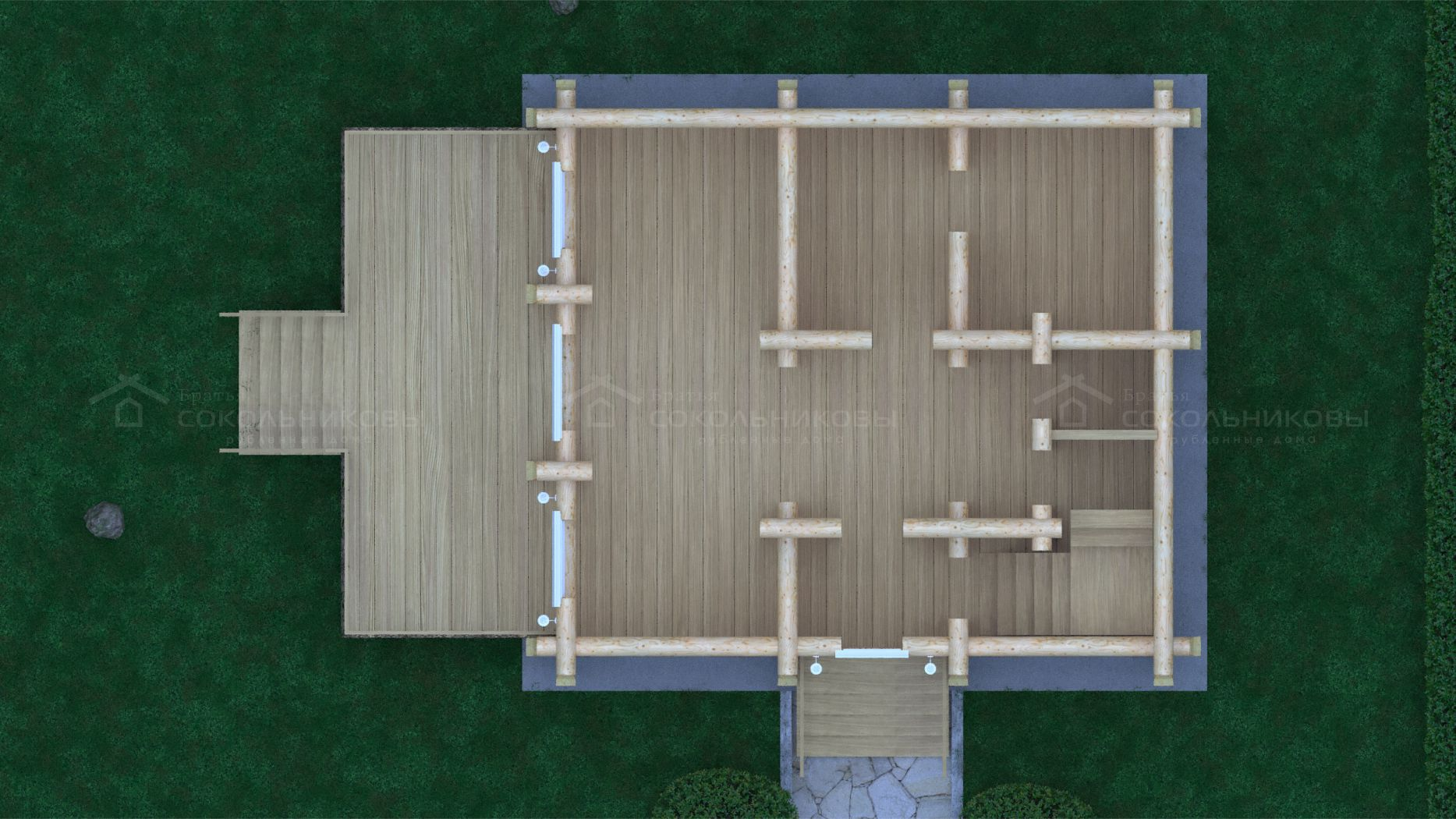 Дом-баня под рубанок, 130 кв. м, фото 7