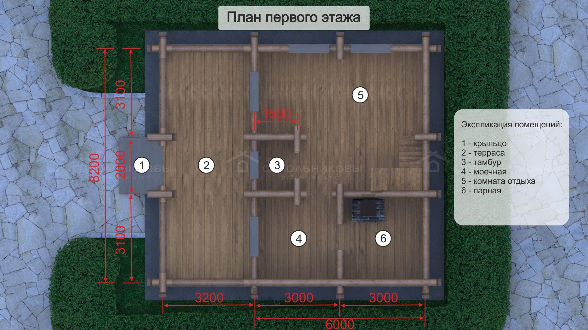 Дом-баня под рубанок, 123 кв. м, фото 8