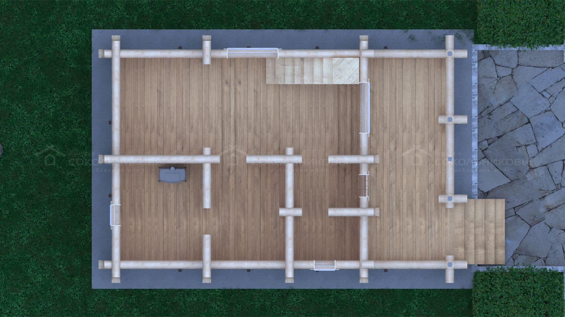 Баня под рубанок, 130 кв. м, фото 9
